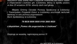 Plakat pogorzelcy Liszkowo-1